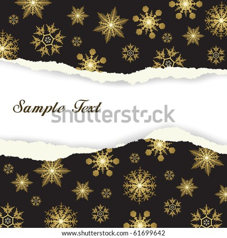 Winter background, snowflakes - vector illustration - stock vector