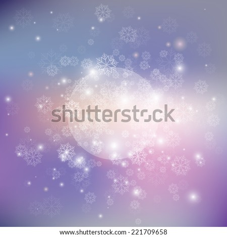 Winter background, vector - stock vector
