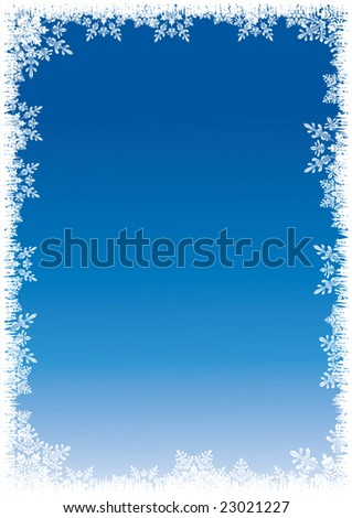 Winter background vector - stock vector
