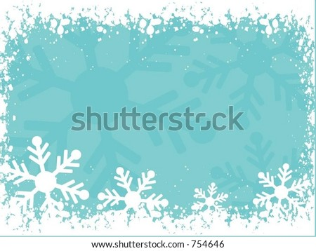 Winter background - vector