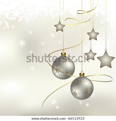 Winter background with a space for your text - stock vector