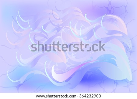 Winter background with blizzard. EPS10 vector illustration. - stock vector