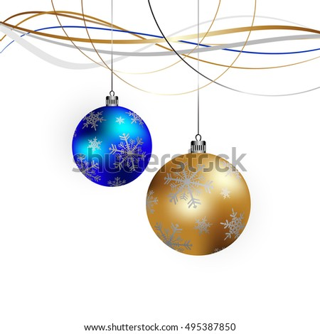 Winter background with Christmas Decorations -  illustration