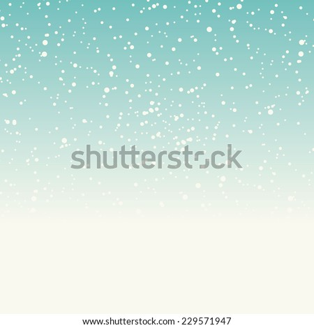 Winter background with falling snow, vector illustration