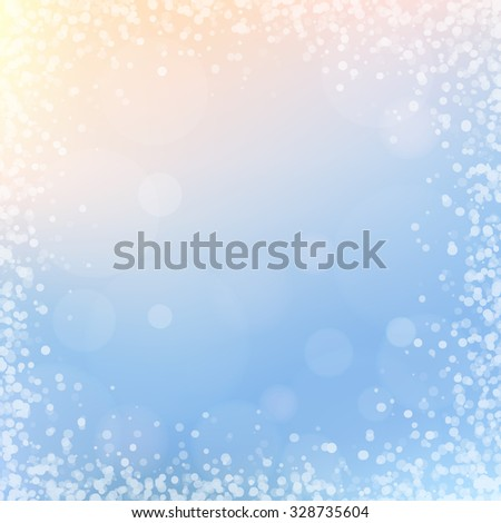 Winter background with frosty patterns