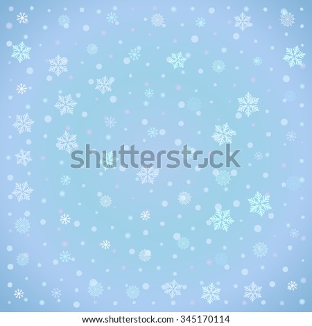 Winter background with snow-flake, editable vector for your design