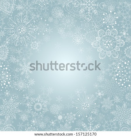 winter background with snowflake illustration . - stock vector