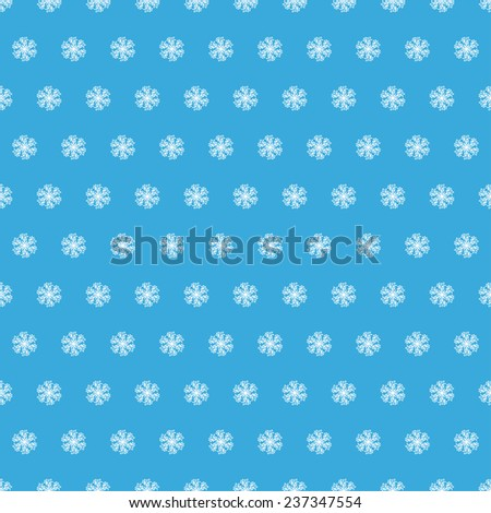 winter background with snowflakes - stock vector
