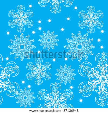 winter background with snowflakes. illustration