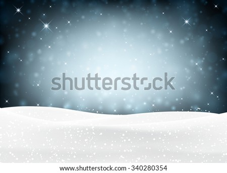 Winter background with snowflakes. Vector illustration.