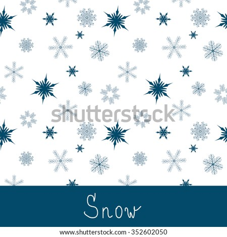 Winter background with snowflakes. Vector illustration - stock vector