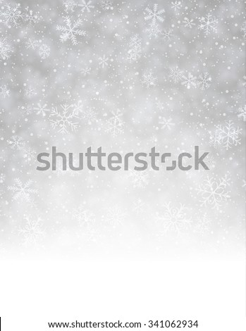 Winter background with snowflakes. Vector paper illustration. - stock vector