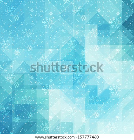 Winter background with triangle texture - stock vector