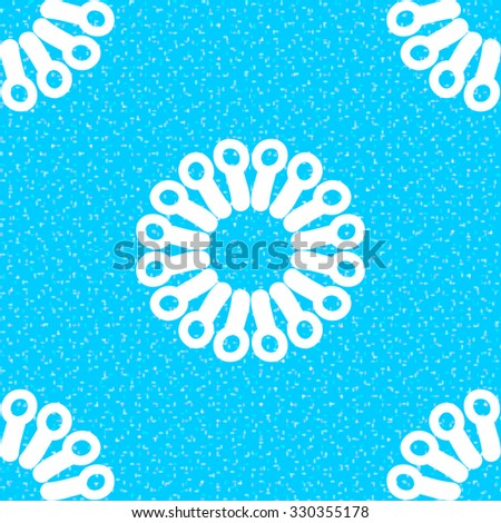 Winter background with white snowflakes. Vector illustration. - stock vector