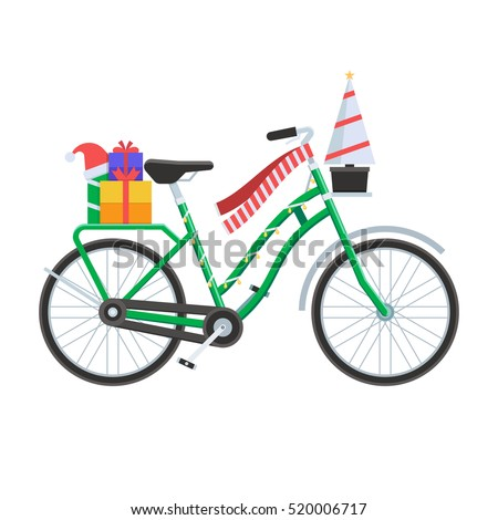 Christmas Bicycle Stock Images, Royalty-Free Images & Vectors ...