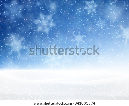Winter blue background with snowflakes. Vector illustration. - stock vector