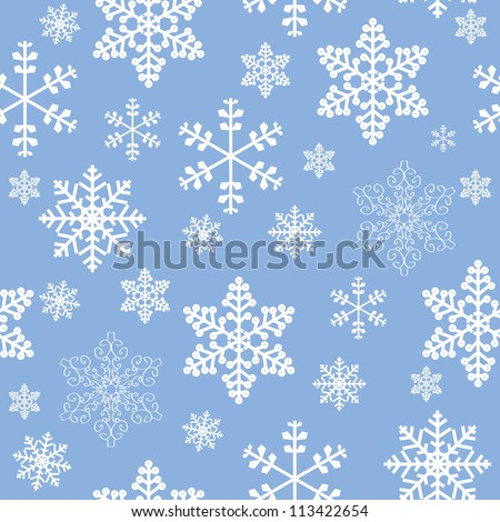 Winter christmas new year seamless pattern /beautiful texture with snowflakes - stock vector