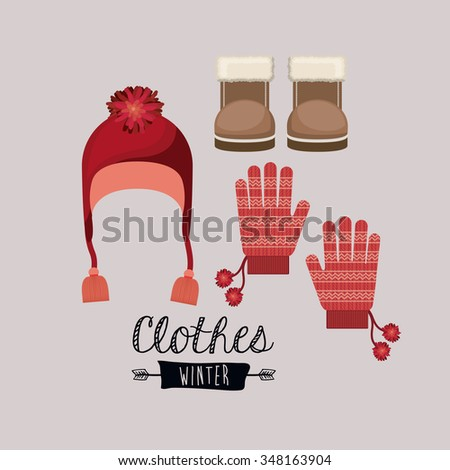 winter clothing design, vector illustration eps10 graphic