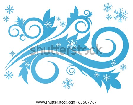 Winter concept with snowflakes, decoration for Your design