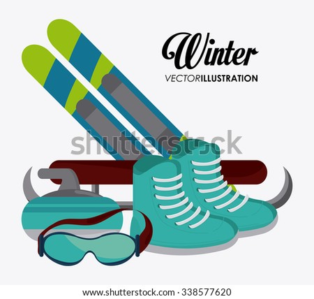 Winter concept with sport icons design, vector illustration 10 eps graphic.