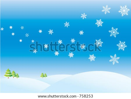 Winter day, greeting card background; happy holidays