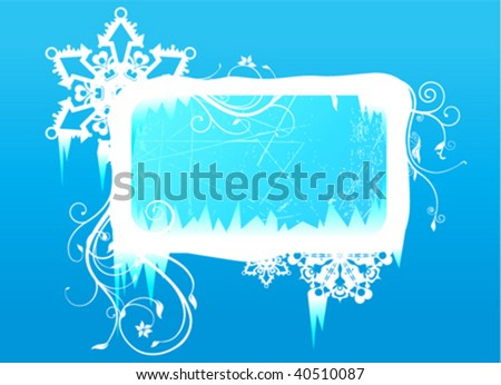 winter frame - stock vector