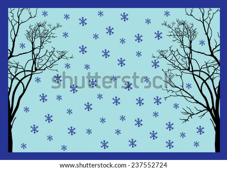 Winter Frame - Vector Illustration - stock vector