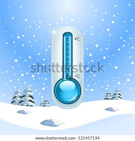 Winter Freeze Concept - stock vector