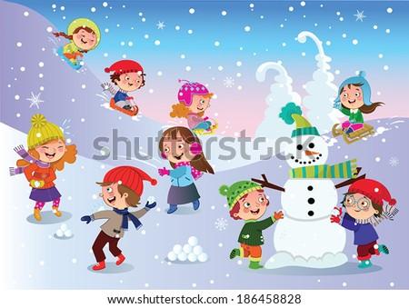 Winter Fun - stock vector