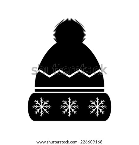 Winter hat icon on white background. Vector illustration. - stock vector