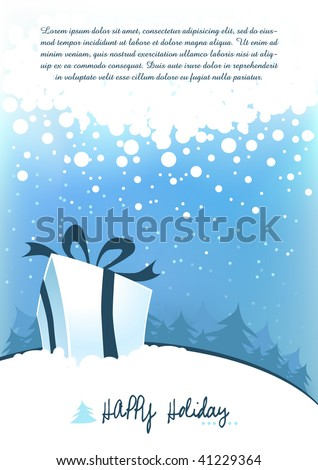 Winter holiday background design series - stock vector