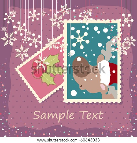 winter holiday card - stock vector