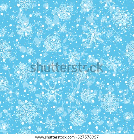 Winter Holiday vector background with snow.