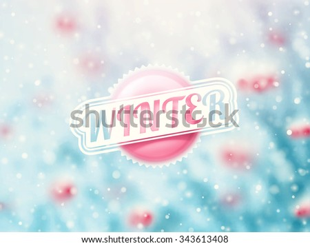 Winter holidays background, eps 10 - stock vector