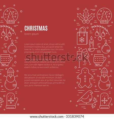 Winter Holidays concept - stock vector