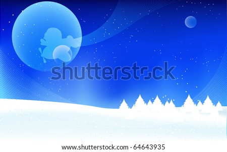 Winter illustration. Vector 10 eps