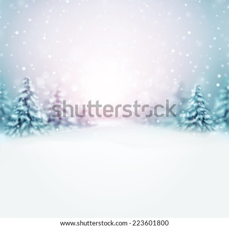 Winter is coming, natural background, eps 10 - stock vector