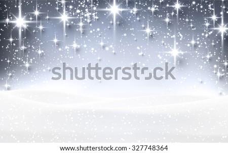 Winter luminous background. Vector Illustration. - stock vector
