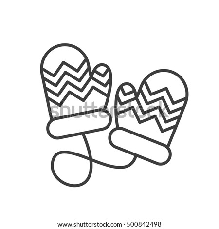 Winter Hat Coloring Page moreover Dress Up Games Coloring Pages moreover Merry Mittens as well Assorted Doodle Christmas Black White Icons 231228853 together with Clipart Mitten Outline. on winter gloves template