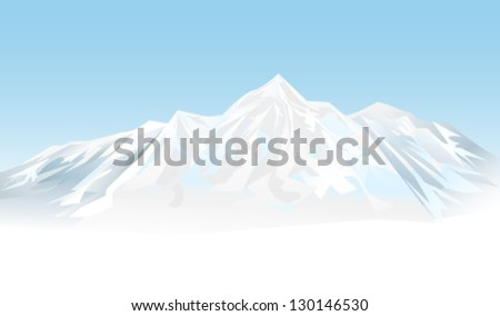 Winter mountains - stock vector