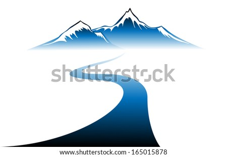 Winter mountains Vector  - stock vector