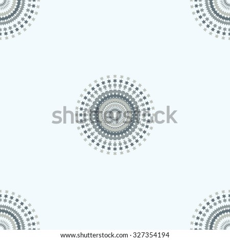 winter pattern of snowflakes gentle blue background vector - stock vector