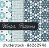 Winter Patterns With Snowflake - stock vector