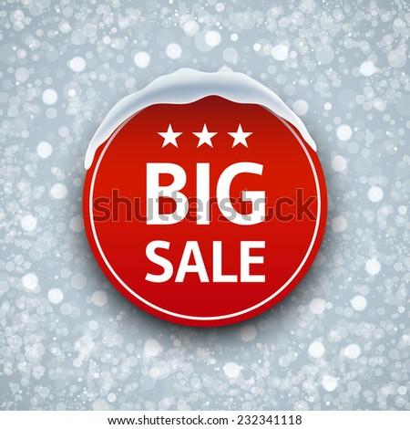 Winter sale - stock vector