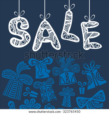 Winter sale vector illustration