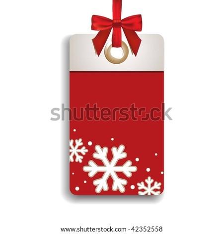 Winter Sales Tag - stock vector