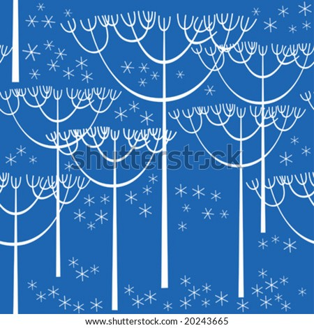 Winter seamless background - stock vector