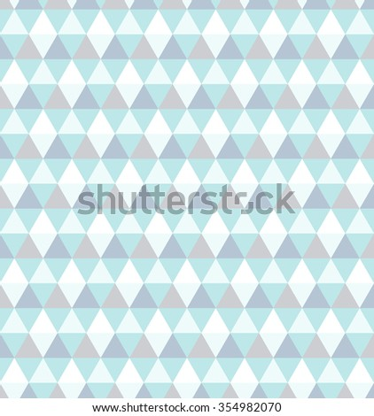 Winter seamless pattern. Geometric abstract. Polygonal background. Blue rhombus. - stock vector