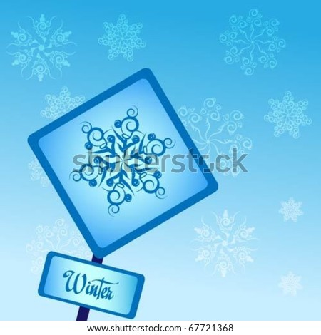 Winter sign shows - stock vector