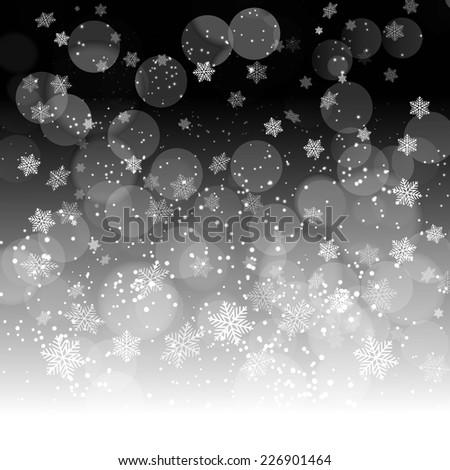 Winter snowflakes background - stock vector